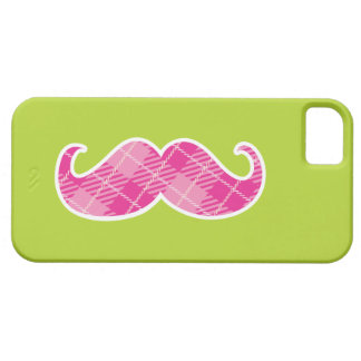 Coque iphone rose de moustache