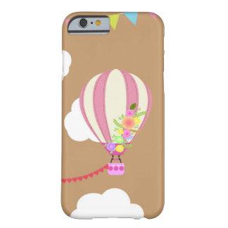 Coque iphone rose mignon de ballon d'air chaud