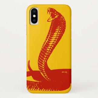Coque iphone rouge du Roi cobra