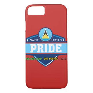 Coque iphone saint-lucien de logo de fierté, rouge