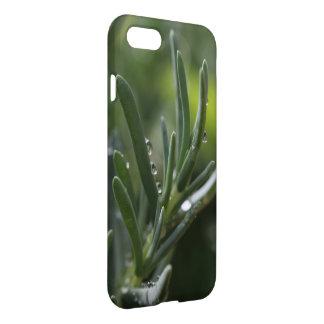 Coque iphone succulent vert de gouttelettes d'eau