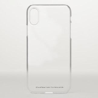 Coque iphone transparent avec l'information faite