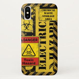 Coque iphone V2 de risque électrique de précaution