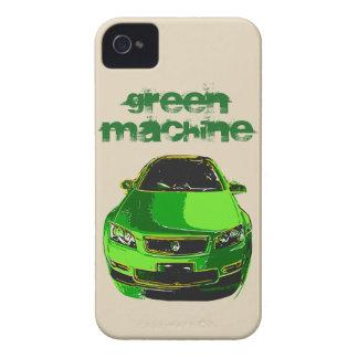 Coque iphone vert de hot rod de machine