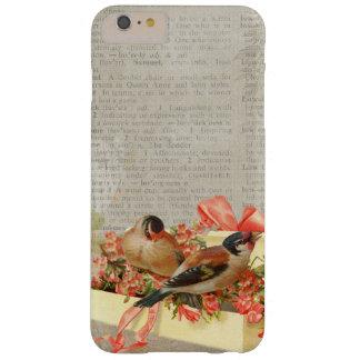 Coque iphone vintage de ruban d'oiseaux