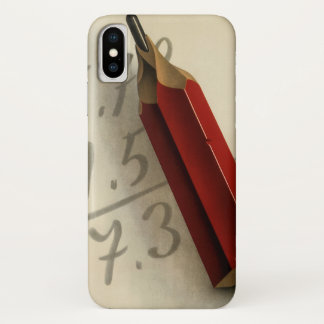 Coque iPhone X Affaires vintages, équation de maths avec le