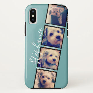 Coque iPhone X Affichage de photo d'Instagram - bande de film de
