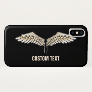 Coque iPhone X Ailes beiges