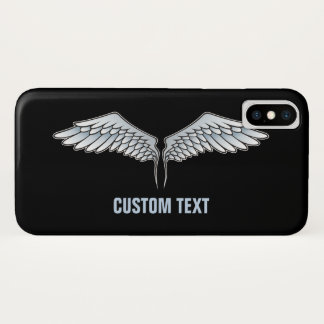 Coque iPhone X ailes Bleu-grises