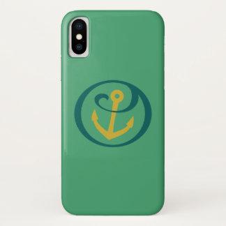 Coque iPhone X Alpha marque d'ancre de Tau de sigma