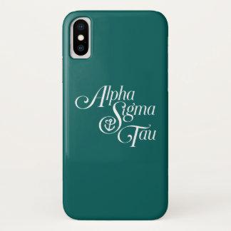 Coque iPhone X Alpha marque de verticale de Tau de sigma
