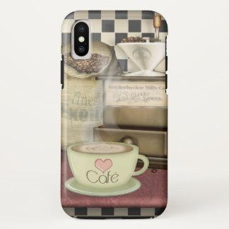 Coque iPhone X Amant Café de café