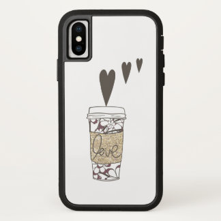 Coque iPhone X Amour de café