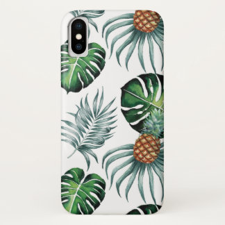 Coque iPhone X Ananas et paumes