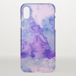 Coque iPhone X Aquarelle abstraite peinte à la main de lavande