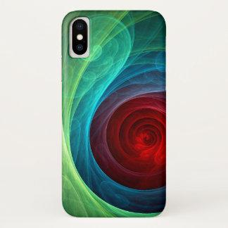 Coque iPhone X Art abstrait de Red Storm