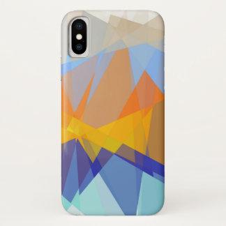 Coque iPhone X Art abstrait géométrique