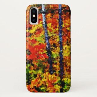 Coque iPhone X Automne dans l'art de peinture #2 de la forêt  