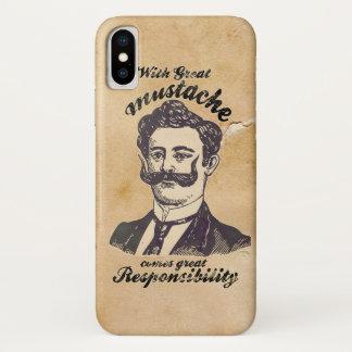 Coque iPhone X Avec la grande moustache vient la grande