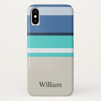 Coque iPhone X Barres de plage