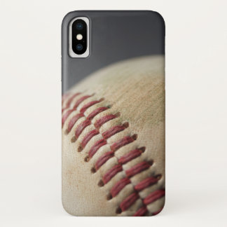 Coque iPhone X Base-ball avec la marque d'impact