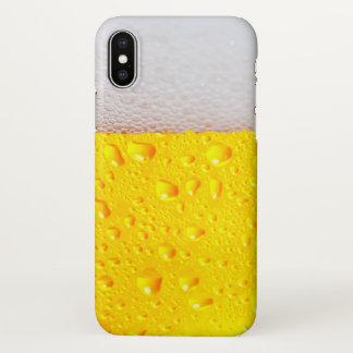 Coque iPhone X Bière réaliste
