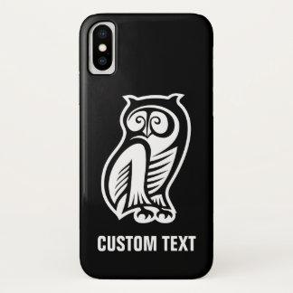 Coque iPhone X Blanc de symbole de hibou
