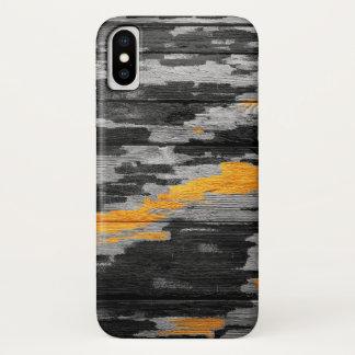 Coque iPhone X Bois en pastel abstrait