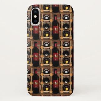 Coque iPhone X Bouteilles de vin rouges et noires dans le cas de