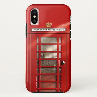Coque iPhone X Cabine téléphonique rouge britannique