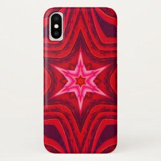 Coque iPhone X Caisse de mandala de chair d'étoile de matin
