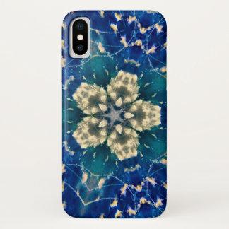 Coque iPhone X Caisse foncée de mandala d'étoile de nuage