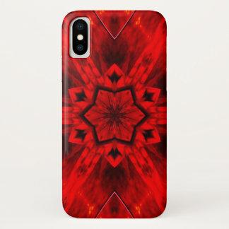 Coque iPhone X Caisse infernale de mandala d'étoile de démon de