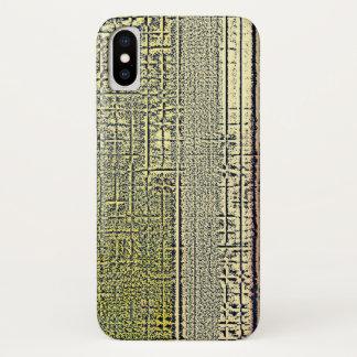 Coque iPhone X Carreaux d'or