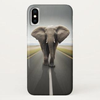 Coque iPhone X Cas de l'iPhone X de camionneur d'éléphant