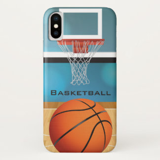 Coque iPhone X Cas de l'iPhone X de conception de basket-ball