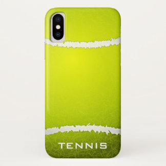 Coque iPhone X Cas de l'iPhone X de conception de tennis