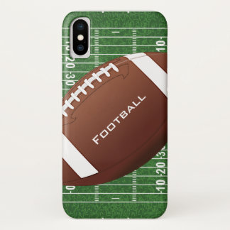 Coque iPhone X Cas de l'iPhone X de conception du football
