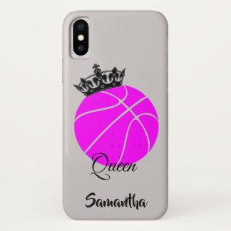 Coque iPhone X Cas de l'iphone X de reine de basket-ball
