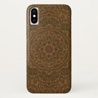 Coque iPhone X Cas de l'iPhone X de Steampunk de rouages
