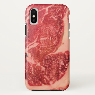 Coque iPhone X Cas de l'iPhone X de texture de bifteck de Ribeye