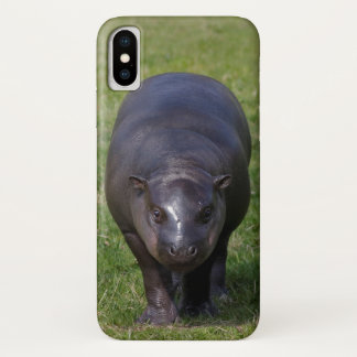 Coque iPhone X Cas de l'iPhone X d'hippopotame de bébé