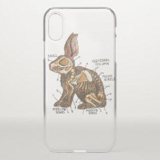 Coque iPhone X Cas de téléphone d'anatomie de lièvres