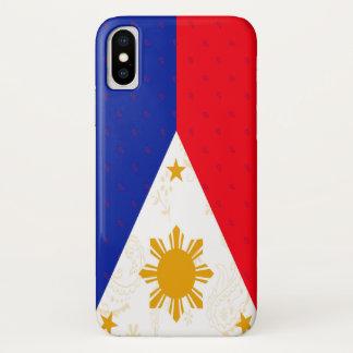 Coque iPhone X Cas de téléphone de drapeau de Philippines