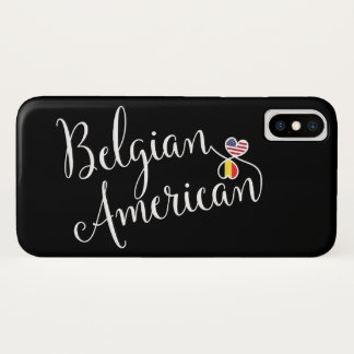 Coque iPhone X Cas de téléphone portable de coeurs enlacé par