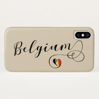Coque iPhone X Cas de téléphone portable de la Belgique de coeur,