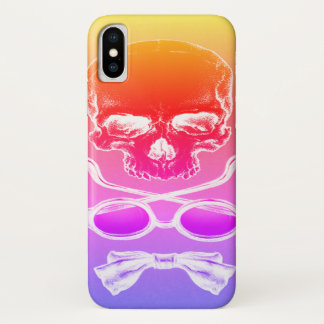 Coque iPhone X Cas de temps de crâne de lever de soleil de