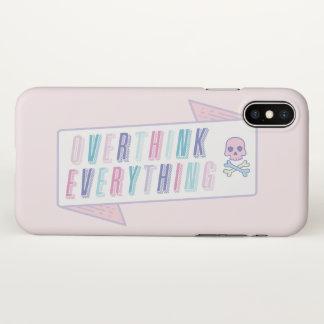 Coque iPhone X Cas drôle d'Overthink d'illustration de citation