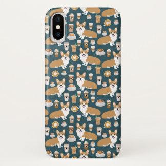 Coque iPhone X Conception de café de corgi