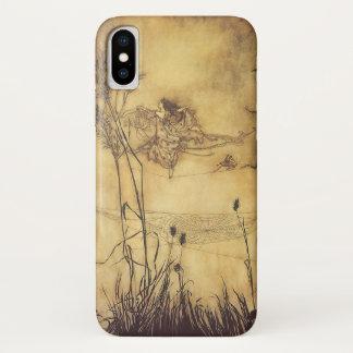Coque iPhone X Conte de fées vintage, Tightrope de la fée par